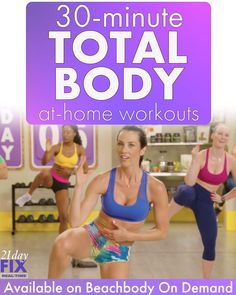 Try these 30 Minute AT HOME workouts! Try these 30 Minute AT HOME workouts! Fitness Herausforderungen, Fitness Workout For Women, Fitness Workouts, Fitness Tracker, Easy Workouts, At Home Workouts, Health Fitness, Obesity Workout, Fitness Plan