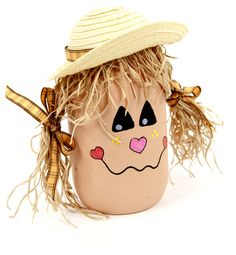 Scarecrow Mason Jar #halloween #craft #masonjar