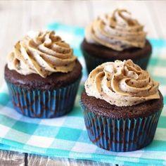 Gluten Free Vegan Mocha Chip Cupcakes from Sarah Bakes Gluten Free Gluten Free Cupcakes, Gluten Free Sweets, Gluten Free Baking, Dairy Free Recipes, Vegan Gluten Free, Vegan Recipes, Paleo, Vegan Chocolate Cupcakes, Vegan Cupcakes