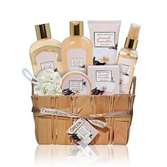 Gift Baskets For Women Green Canyon Spa Set Her 1 Bath Body Gifts Luxurious French Vanilla 8 Pc Best Ideas