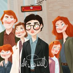 harry potter harry potter jk rowling fan art harry potter fan art fandom magic artoftheday digital art digital digital fan art wizard ron weasley hermione granger ginny weasley platform nine and three quarters platform9¾ alexshaulis.tumblr.com