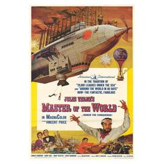 "Master of the world ( 1961 )    he world in the late 19th century: A scientist and his team are held as ""guests"" of Robur on his airship, that he want to use to ensure peace on earth. Peace with all, even if he has to bombard military targets all over the world. Can the scientist stop him ?"
