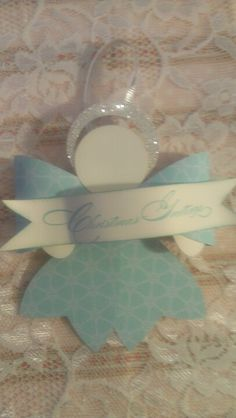 Angel using the gift bow Stampin' Up big die