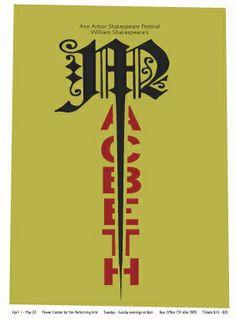 Shakespeare Posters by Laurel Twist, via Behance