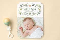 Sweet Little Ladybug Birth Announcements by Melanie Severin at minted.com
