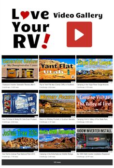 Over 200 Love Your RV! videos are now available in an easy to navigate archive http://www.loveyourrv.com/love-rv-video-gallery/ #RVing #RVers