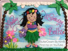 Hawaiian girl cake