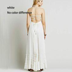 Beach dress sexy dresses boho bohemian people dress summer long blackl – Bohemian Gift Stores