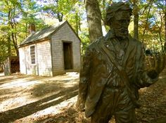 Walden Pond cabin--Been here. Its beautiful