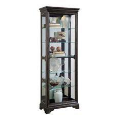 Curios Del Ray Side Entry Curio by Pulaski Furniture Pulaski Furniture, Home Furniture, Corner Curio, Madison Brown, China Display, Cabinets For Sale, Accent Furniture, China Cabinet, Bathroom Medicine Cabinet