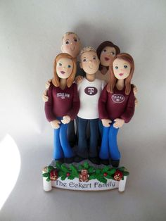 Custom Family Cake Toppers  Deposit is by BarbarasClayMagic, $145.00