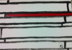 """""""Sem nome"""" acrílica sobre papel 0,42 x 0,30 2008 M. Sigrini Miranda"""