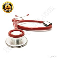 IndoSurgicals Silvery® Stethoscope for Doctor's and Medical students-Red color #IndoSurgicals