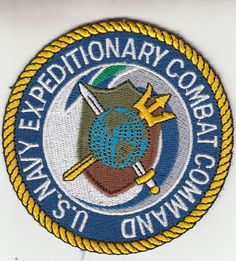 U.S. NAVY EXPEDITIONARY COMBAT COMMAND PATCH