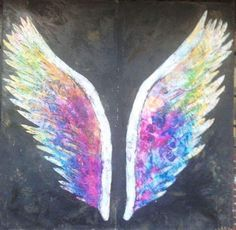 The Global Angel Wings Project created in 2012 to remind humanity that we are the Angels of this Earth Colette Miller is part of Angel wings graffiti - Angel Wings Art, Angel Art, Wings Graffiti, Graffiti Art, Sidewalk Chalk Art, Public Art, Projects, Inspiration, Wings Drawing
