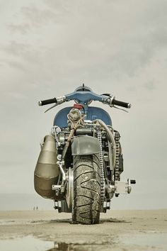 "doyoulikevintage: ""Vespa with engine wr360 husqvarna "" Insanity."