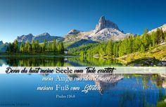 Versbild und Wallpaper für Desktop und Handy: Psalm 116,8 – Gladium spiritus