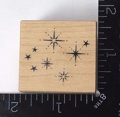 GOLDEN STARS PSX C1368 Rubber Stamp Shooting Flourish #404