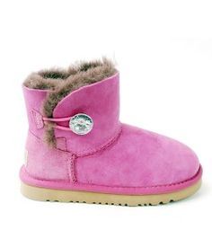 UGG Kids Mini Bailey Button Bling Boots Rose Red Online Sale Kids Ugg Boots, Ugg Kids, Mini Baileys, Boot Bling, Red Roses, Uggs, Shoes, Button, Women