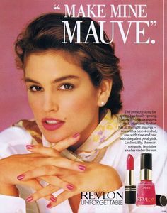 Revlon ad 1990 feat Cindy Crawford by angelia Vintage Makeup Ads, Vintage Nails, Vintage Beauty, Retro Makeup, Vintage Barbie, Vintage 70s, Vintage Style, 1990s Makeup, Cindy Crawford Photo