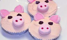 Pig cupcakes - Kidspot