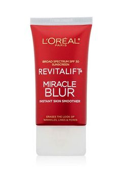 Moisturizer for Face, L'Oreal Paris Skincare Revitalift Miracle Blur Instant Skin Smoother Primer, Facial Cream with SPF 30 Sunscreen, fl. Loreal Revitalift, Face Blur, Top Makeup Artists, Hollywood Makeup, Facial Cream, Packaging, Beauty Shots, L'oréal Paris, Drugstore Makeup