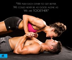 Push Each-other to be better. Fitness couple/couples fitness - Gym memes
