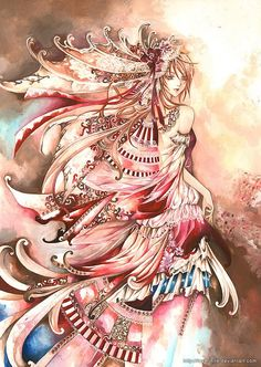 Hot Anime Illustrations by Nina Listyani Manga Art, Anime Manga, Anime Art, Hot Anime, Illustrations, Illustration Art, Manga Watercolor, Twilight Princess Midna, Beautiful Goddess