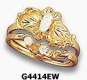 34 Ct T W Diamond 14k Black Hills Gold Womens Bridal Set