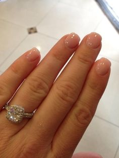 Kara Keoughs wedding nails. This would be perfect! I want something simple!