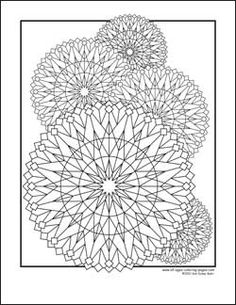 kaleidoscope coloring pages - we have the book, it's fun
