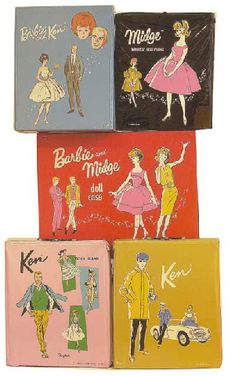 Barbie Cases - I have my case at my mother's house.my orginal 1959 Barbie is with me! Barbie Doll Case, Vintage Barbie Dolls, Barbie And Ken, Barbie Stuff, Barbie Clothes, Ken Doll, My Childhood Memories, Childhood Toys, Photo Vintage