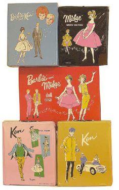 Barbie Cases- I had my mom's original Barbie case!