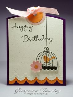 Stampin' Up! Birthday Tag  by Georgeann Manning at 'Me' Time