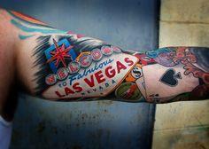Las Vegas sign tattoo. Découvrez tous les casinos du monde et leurs meilleures offres sur www.casinosavenue.com