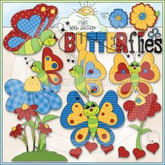 Butterflyin Redrawn 1 - NE Trina Clark Clip Art