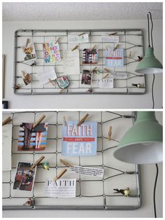 Baby Bed Spring Note Board #Bed, #HomeDecor, #NoteBoard, #Spring, #Upcycled, #Vintage