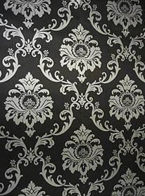 Damasco italiano plateado en venta. Silver damasK wallpaper. Mérida