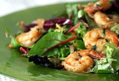 Shrimp Salad with Golden Raisin Vinaigrette