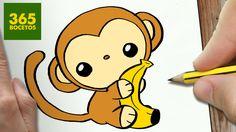 COMO DIBUJAR MONO KAWAII PASO A PASO - Dibujos kawaii faciles - How to d...