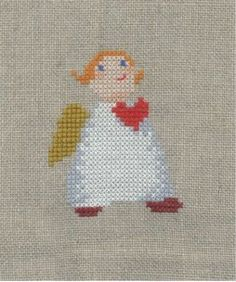 Lovely angel, no pattern, sorry Kreuz und quer: Werke des Wochenendes …. Lovely angel, no pattern, sorry Cross Stitch Angels, Xmas Cross Stitch, Counted Cross Stitch Patterns, Cross Stitching, Christmas Cross, Christmas Angels, Cross Your Fingers, Christmas Embroidery, Needlework