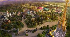 New Fantasyland addition design model 600 600×319 pixels, Magic Kingdom, Disney World