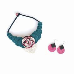 The perfect pair for a summer night out: Arabella choker and Orchid earrings  // Songa Designs