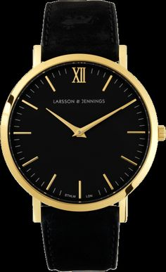 Larsson & Jennings | LÄDER watch in Black | saw @Camille Blais Charrière rocking this on #camilleovertherainbow & now can't get enough of this Stockholm/London watchmaker's online store