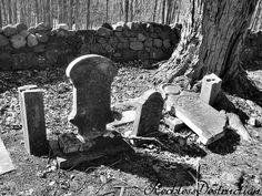 abandoned grave yard, broken headstones #forgottenseries