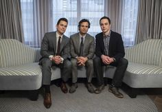 Actors Matt Bomer, Mark Ruffalo and Jim Parsons of the HBO movie The Normal Heart pose for a portrait in New York