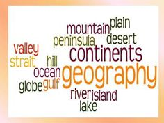 This study guide, corresponding quiz, and wordle covers important vocabulary about geography for third grade social studies. These words are included: geography, continents, globe, ocean, island, peninsula, plain, valley, gulf, lake, river, desert, strait, hill, and mountain.