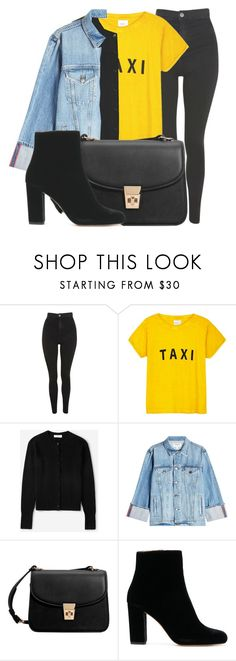 """""""Outfit #1943"""" by lauraandrade98 on Polyvore featuring moda, Topshop, Compañia Fantastica, Everlane, Frame y MANGO"""