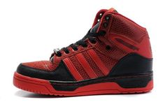 Jeremy Scott x Adidas JS Logo Attitude High Shoes Red Black