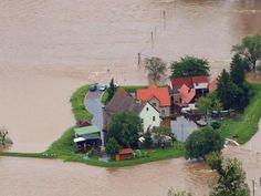 Hochwasser nördlich von Eilenburg (Sachsen). Foto: Jens Wolf